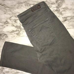 AG The Stilt Cigarette Leg Grey skinny jean 27 R